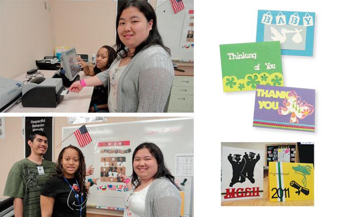 Students and teachers using motiva 400
