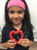 girl with 3d printed heart