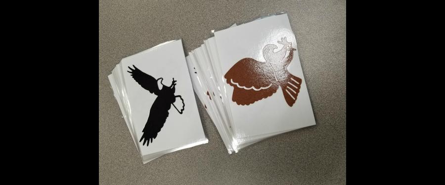 hawk and bird stickers
